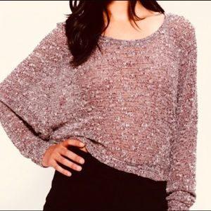 Sparkle & Fade Cropped Dolman Sleeve Sweater